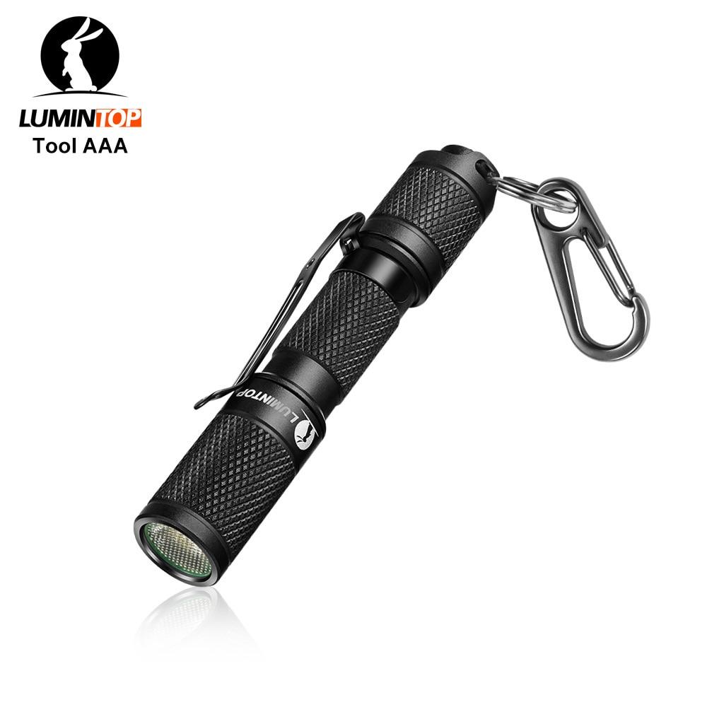 LUMINTOP Tool AAA 110 Lumen Keychain  Mini Flashlight Pocket-sized With OSRAM High Power Led IP68 Waterproof Reversible Clip