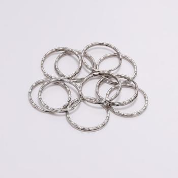 30pcs/lot 25mm Metal Round Keyring Rhodium Color Split Key Ring Llaveros clasp For Keychain DIY Jewelry Making Accessories 10pcs lot 25 28 30mm gold round key ring llaveros clasp findings key chain split ring plated key ring for jewelry making