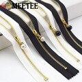 3 stücke Meetee 3 # Metall Nahe Ende Reiß 20/30cm Gold Zähne Lange Zip Verschluss für Nähen taschen Unten Jacke Rock Kleidung Zubehör