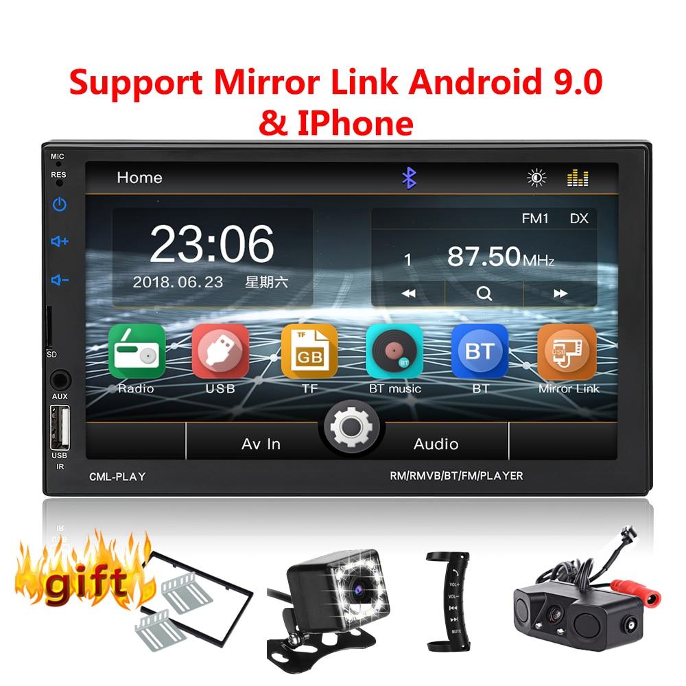Autoradio 2 Din Bluetooth mirrorlink 2din Autoradio 7 ''lecteur MP5 moniteur de sauvegarde de voiture Audio de voiture pour caméra de recul à distance