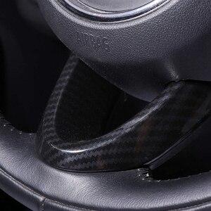 Image 4 - 미니 쿠퍼 F54 F55 F56 F57 F60 탄소 섬유 스타일 자동 인테리어 액세서리에 대 한 3Pcs 자동차 스티어링 휠 커버 트림