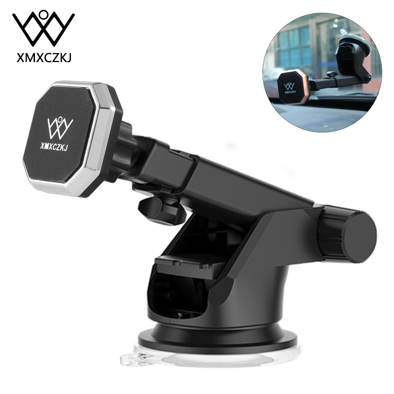 XMXCZKJ Magnet Telescopic In Car Mount Mobile Phone Holder Support For Magnetic Stand For Smartphone Cell Phone Holder Bracket