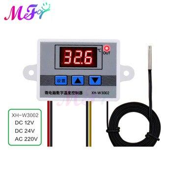12V 24V 220V Professional W3002 Digital LED Temperature Controller Sensor Switch 10A Thermostat Regulator Heating Cool XH-W3002 w88 12v 220v 10a digital led temperature controller thermostat control switch sensor 2019
