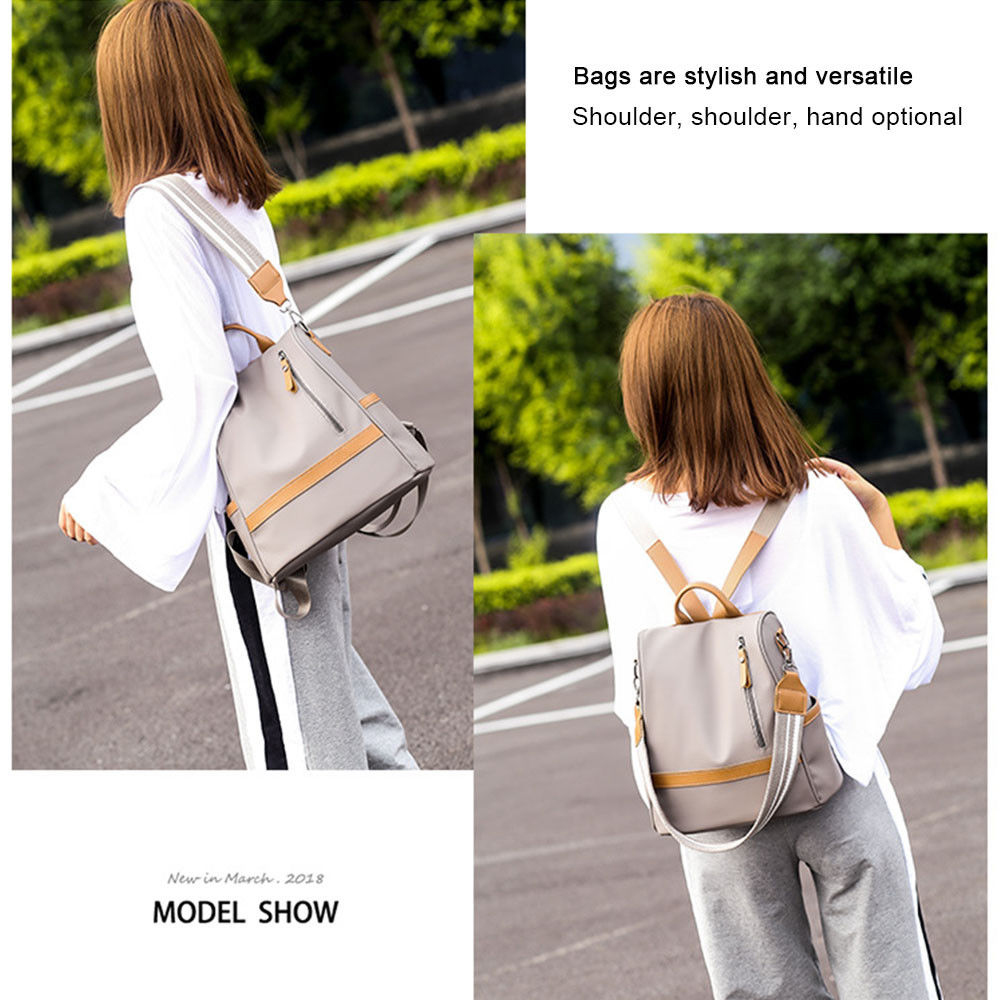 H8148e390cbe14f31806aa3e10f98d70e8 - Fashion Women Waterproof Travel Backpack Anti-theft Oxford Backpack Female School Bags Bagpack For Girls Shoulder Bag