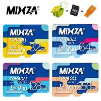MIXZA-tarjeta de memoria 256GB para tableta, Clase 10 Microsd de 128GB, 64GB, U3, 80 MB/S, 32GB, tarjeta flash, TF/sd, UHS-1