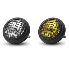 Motorcycle Headlight Retro Vintage Round Mesh Grill Mask Lampshade Moto Scooter Vintage Front Light Round Lamp Universal