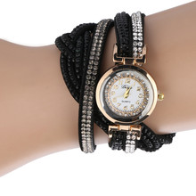 Women Luxury Crystal Watch Bracelet Fashion Casual Watches V