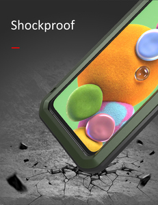 Image 2 - Coque de protection complète antichoc 360 ° pour Samsung Galaxy A51 A71 A50 A70S A90 5G A40S A30S, protection antichoc en aluminium