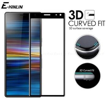 Перейти на Алиэкспресс и купить 3D изогнутый край Полное покрытие жесткое закаленное стекло для Sony Xperia 8 5 1 10 II Plus Ace L4 L3 Защитная пленка для экрана