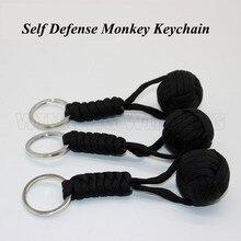 Самозащита ремешок обезьяна брелок в виде кулака наружная защита безопасности Defensa персональный стальной шар для женщин для выживания Wapens