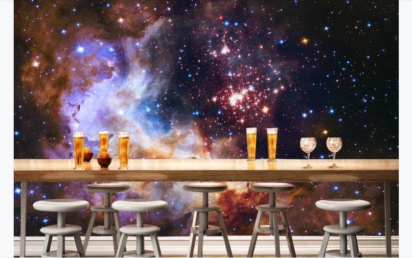 3D Cool Kids Room Wallpaper Fantasy galaxy starry sky Wall Murals For Living Room Wall KTV