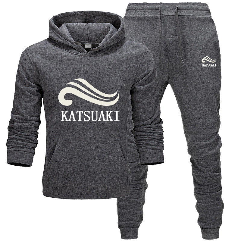 2020 Brand Spring Hip Hop Sporting Suits Cute And Funny Fashion Hoodies + Pants Tracksuits Katsuaki Casual Mens Sportswear Sets