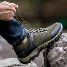 Men Hiking Shoes Outdoor Jogging Trekking Sneakers Men Breathable Hiking Sports Boots Non-slip Wear-resistant Travel Shoes(China)