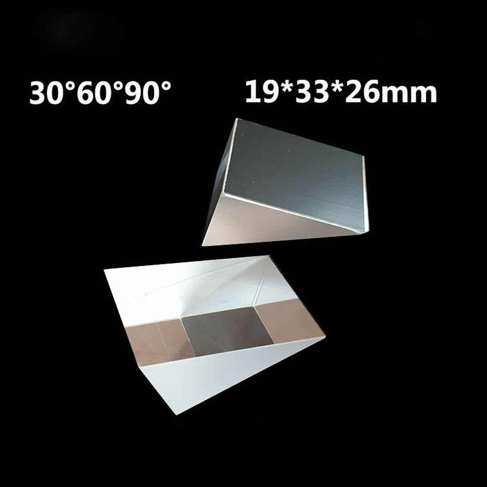 19*26*33mm 30 Degrees Processing Of Optical K9 Glass Lazy Glasses Manufacturer With Right Triangular Prism