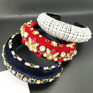 Pearl Inlaid Sponge Pearl Crown Thickening Headband Elegant Women Bezel Turban Women Hair Band Girls Hair Accessories Hair Hoop