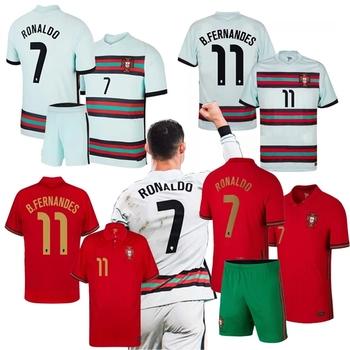 2020 2021 portugalia koszulki piłkarskie koszulki piłkarskie domu i dala RONALDO koszulki DE FUTBOL MAILLOT jednolite + zestaw dla dzieci tanie i dobre opinie BIZNESOWY SHORT CN (pochodzenie) POLIESTER Cztery pory roku Na co dzień tops Z KRÓTKIM RĘKAWEM