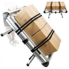 2 PCS 5.75m Cam Lock Adjustable Luggage Straps Cargo Tie-down Belts (Black)