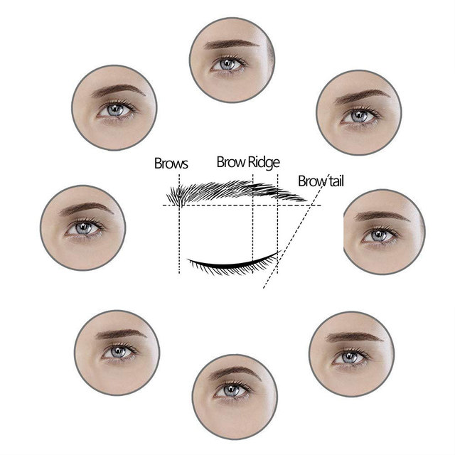 8Pcs/Set Brow Stencils Reusable Eyebrow Shaping Defining Stencils Eye Brow Drawing Guide Template Makeup Tool send eyebrow knife 5