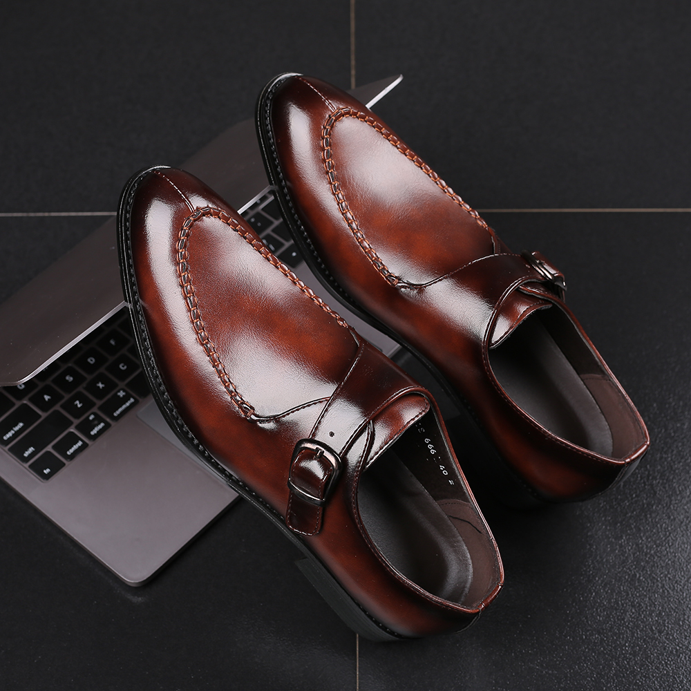 2019 Italian Dress Shoes Men Wedding Party Shoes High Quality Casual Loafer Male Designer Flat Shoes Plus Size 38-48