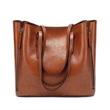 лучшая цена New Handbag Women PU Leather Shoulder Bag Casual Large Capacity Top-Handle Bucket Bag Simple Style Shoulder Bags for Women 2019