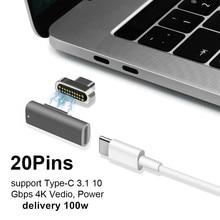 Magnetico USB di Tipo C Adattatore, Supporto PD Caricatore di Dati e Transmision (10Gbp/s), USB3.1 Tipo C Erogazione di Potenza di Carica Veloce PD100W