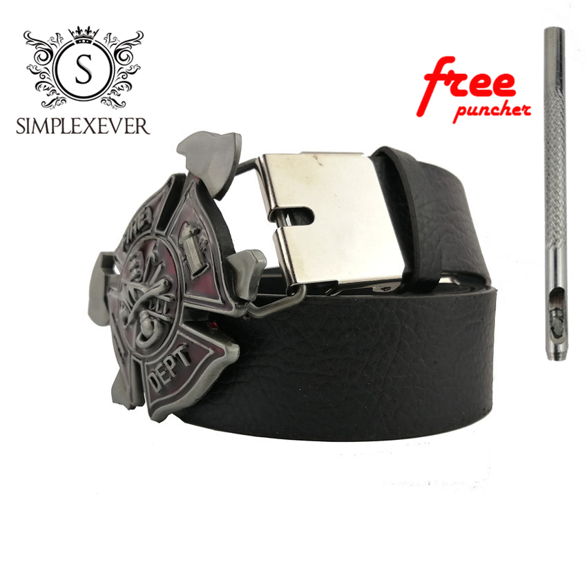 Fire Dept Firefighters Metal Cool Belt Buckles For Man Unisex Western Fashion Buckle With Leather Belt Dropshipping