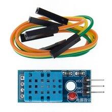 TENSTAR רובוט 50pcs DHT11 טמפרטורה ולחות יחסית חיישן מודול עם כבל