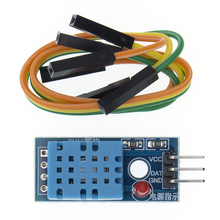 TENSTAR ROBOT 50pcs DHT11 온도 및 상대 습도 센서 모듈 (케이블 포함)