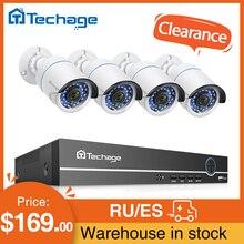 Techage 8CH 1080P POE NVR zestaw do nagrywania wideo 2.0MP System kamer bezpieczeństwa IR Outdoor Audio Record kamera IP zestaw nadzoru wideo CCTV