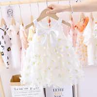 Vestido de verano para niñas pequeñas, ropa de princesa, Vestidos para fiesta de tul de recién nacido, vestido de 1 er cumpleaños, ropa de 0 a 2 años