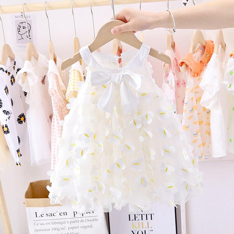Robe d'été en Tulle pour bébés filles | Vêtements princesse de fête, pour nouveau-nés de 1er anniversaire, vêtements pour tout-petits de 0-2 ans