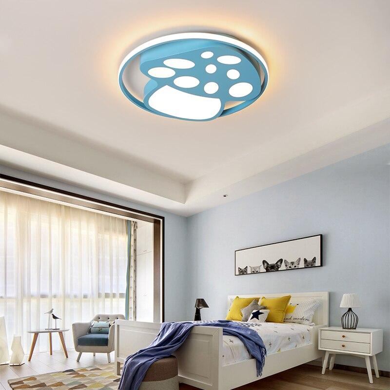 Lustre de plafond moderne à LEDs de champignon de bande dessinée d'enfants chambre de bébé led éclairage de balcon de chambre de lustre de fille de garçon