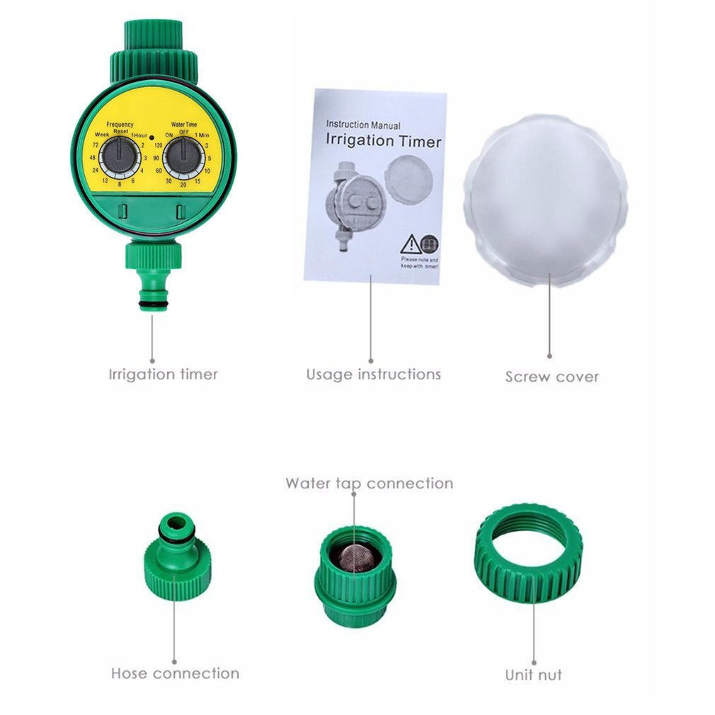 Rotary Knob Water Timer Automatic Electronic Watering Timer Valve Irrigation Sprinkler Controller For Micro Drip Irrigation