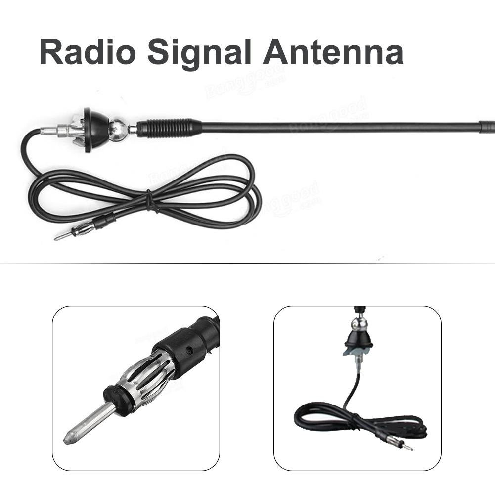 "16/"" Universal Car Auto Roof Fender Radio AM FM Signal Aerial Rubber Antenna Cabl"