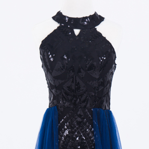 Image 5 - 플러스 사이즈 이브닝 호스트 긴 드레스 높은 목 지퍼 간단한 파티 가운 Soiree 섹시한 공식 드레스 MS 0080