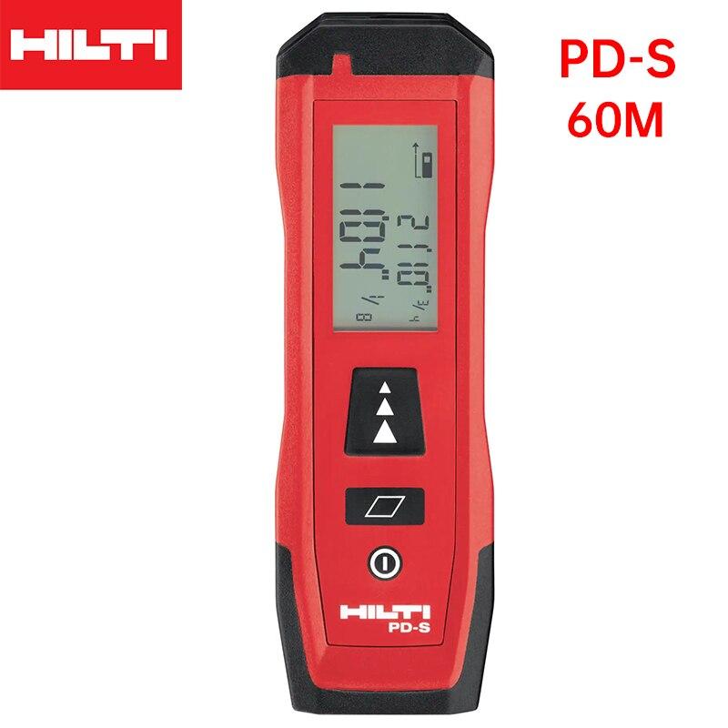 HILTI лазерный дальномер PD-S дальномер Охота цифровой портативный 60m Рулетка инструмент Площадь лазерный дальномер