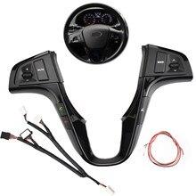 Многофункциональные кнопки на руль для Hyundai VERNA SOLARIS, переключатель управления громкостью аудио и музыкой, Синяя подсветка, Bluetooth