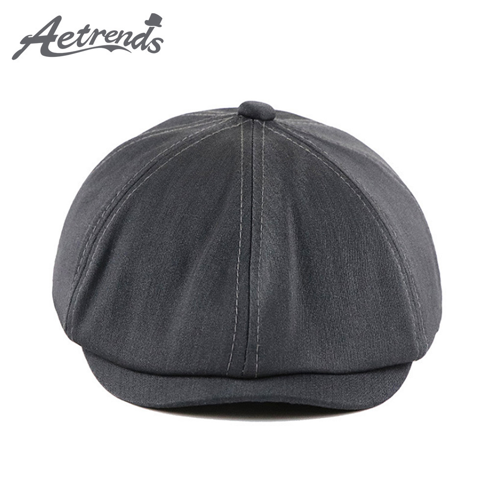 Winter 100/% Leather Beret Newsboy Hats Women Men S//M//L Size Genuine Octagonal