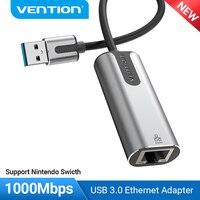 Vention USB Ethernet Adapter USB 3.0 2.0 scheda di rete a RJ45 Lan per Xiaomi Mi Box 3/S Set-top Box Nintendo Switch Ethernet USB