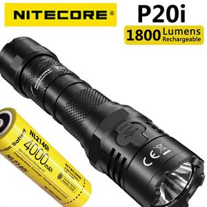 Original NITECORE P20i Uses Luminus SST-40-W LED 1800 Lumens, USB-C Direct Charging Law Enforcement Flashlight, Equipped with NL