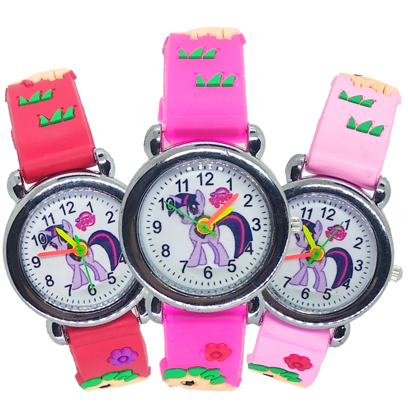 Simple Bracelet Accessories Kids Watches Lovely Horse Children Students Watch Girls Watch Watches Hot Dress Child Watch Clock