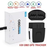 V20 OBD GSM GPS Tracker Car Diagnostics 2 in 1 for iOS/Android OBD Locator V20 GPS Locator OBD2 Scanner PK ELM 327 scan tool