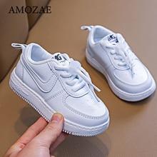 Chaussures de Sport blanches pour enfants, baskets pour bébés garçons et filles, à semelle souple, nouvelle collection 2021, chaussures décontractées