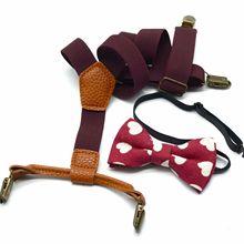 Fashion Suspenders Printed-Suit Children's Strap Wedding-Ties-Accessories Maikun Solid