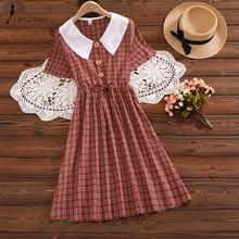 Summer Women England Style Shirt Dress Bohemian Vintage Eleg