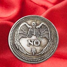 Да или нет череп памятная монета сувенир вызов коллекционные монеты коллекция Искусство ремесло