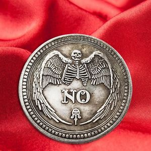 Yes or No Skull Commemorative Coin Souvenir Challenge Collectible Coins Collection Art Craft(China)
