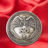 Yes or No Skull Commemorative Coin Souvenir Challenge Collectible Coins Collection Art Craft