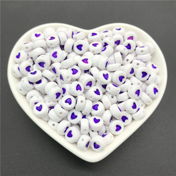 100pcs/lot 4x7mm Acrylic Spacer Beads Letter Beads Oval Alphabet Beads For Jewelry Making DIY Handmade Accessories 7