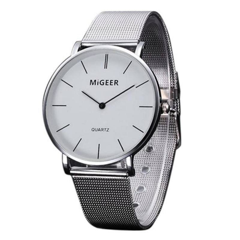 New Luxury Watch Fashion Stainless Steel Men Quartz Analog Wristwatch Roman Numerals Men's Watches Reloj Hombre Simple Hours